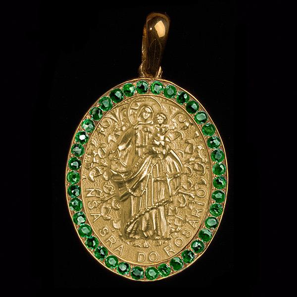 Nossa Senhora do Rosário Esmeralda Ouro